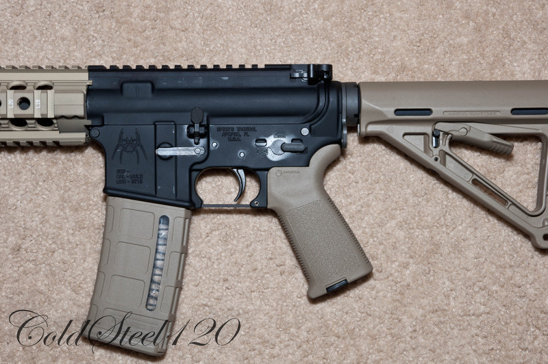 DSA Upper with Gunfighter Extended Charging Handle