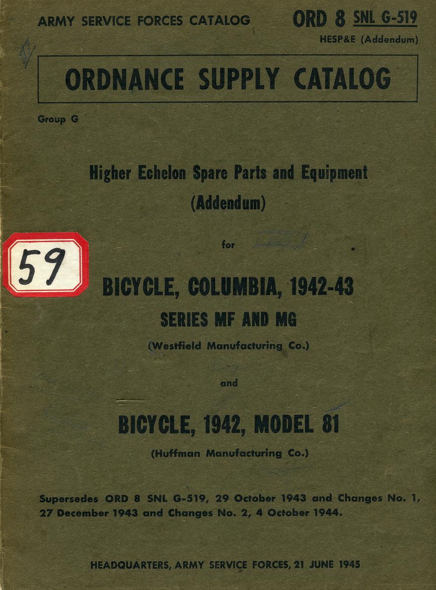 ORD 8 SNL G-519 <br /> <br /> 21 JUNE 1945<br /> <br /> (CLJ COLLECTION)