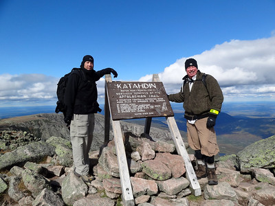Maine Trip and **Mt Katahdin** Highpoint Hike with Tommy and Rachael, September 2012