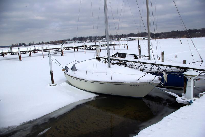 and a few boats just can't give up on summer......anyone up for a sail?