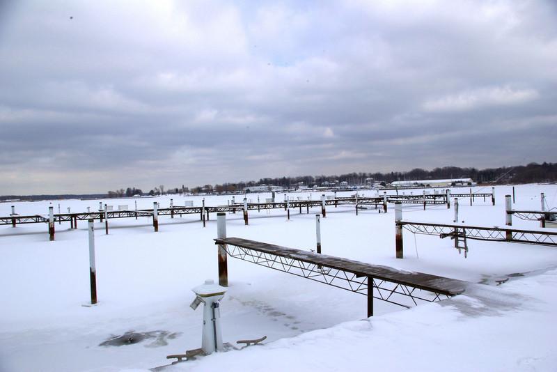 White lake in February