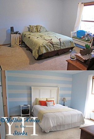 Before and after<br /> This is now the triplets room.  We've moved our room and I'm currently working on that.