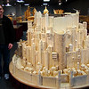 This is a model of JRR Tolkien's (Lord Of The Rings) Minas Tirith. This is in progress and was started in 2009 and is made of 420,000 matchsticks so far!!!!