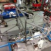 The chassis is now back at the Team Terrific shop to do all the final fitment of dzus tabs, etc.  All the aluminum panels on the floor will be re-installed.  Now the frame is off  to be  powder coated.