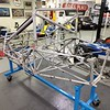 It's now a bare frame, ready to go to Blast-Tech to have it blasted back to bare metal.