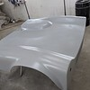"""Rear bonnet now in primer ready for final fit.  It was fitted to the frame to make sure it all """"hangs"""" OK and to locate Dzus clips on the new rear frame work."""