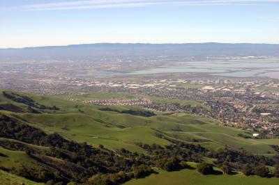 South Bay Area, CA from the Mission Peak summit. Photo by Bruce Jansen, courtesy of the LocalHikes.com website.