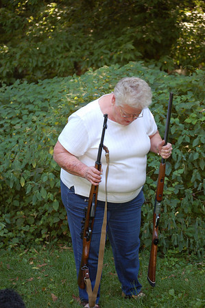 Mom with Dad's Guns