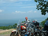 Mt. Nebo........stopped to take a pix of the bikes