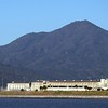Mt Tamalpais overshadowing San Quentin prison in route to the ranger station and trailhead.