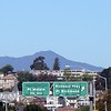 """Mt Tamalpais (Mt """"Tam"""" in the SF Bay area) comes into view just before we cross the Richmond bridge, in route to the trailhead."""