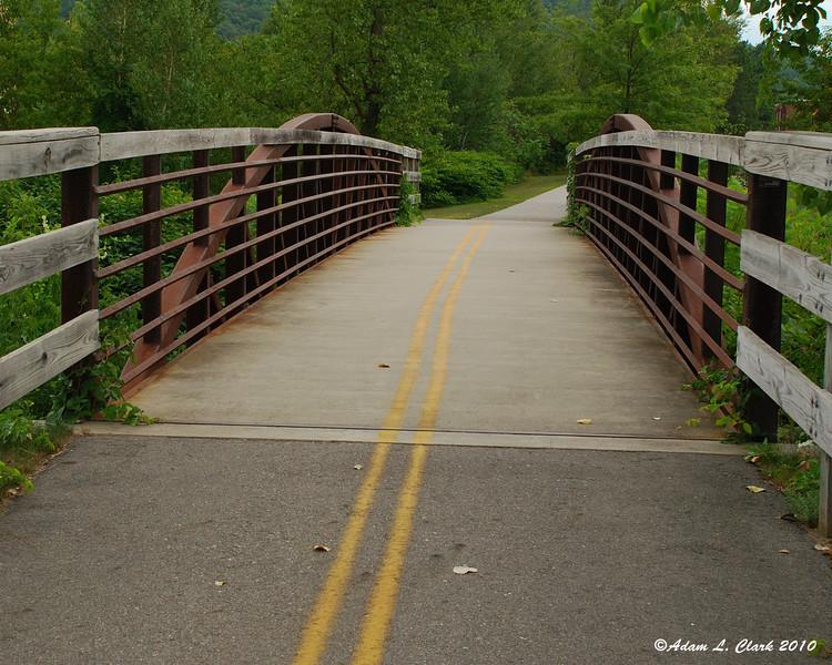 Bridge on the bike path in Keene