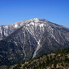 Mt Baden-Powell (9399 ft elevation) looking west from Angeles Crest Hwy 2 at the Blue Ridge Summit.