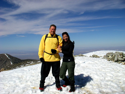 Mt Baldy Training Hike for Machu Picchu, Easter at Mount Baldy Village CA April 12, 2009