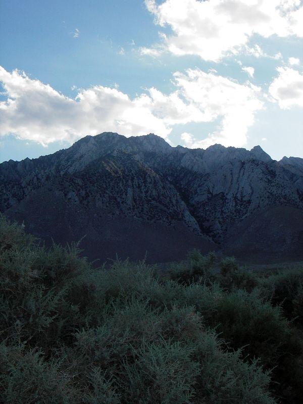 Southern Sierra landscape in June 2005, south of Lone Pine CA.