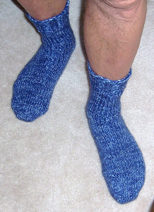 Dave's new blue socks  :)