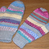 Crazy mitts...made with leftovers....my favourite mittens!