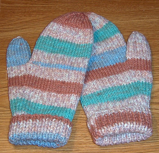 Mittens I made for Dave  :)