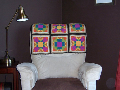 Knitted 'quilt' afghan  - 2010