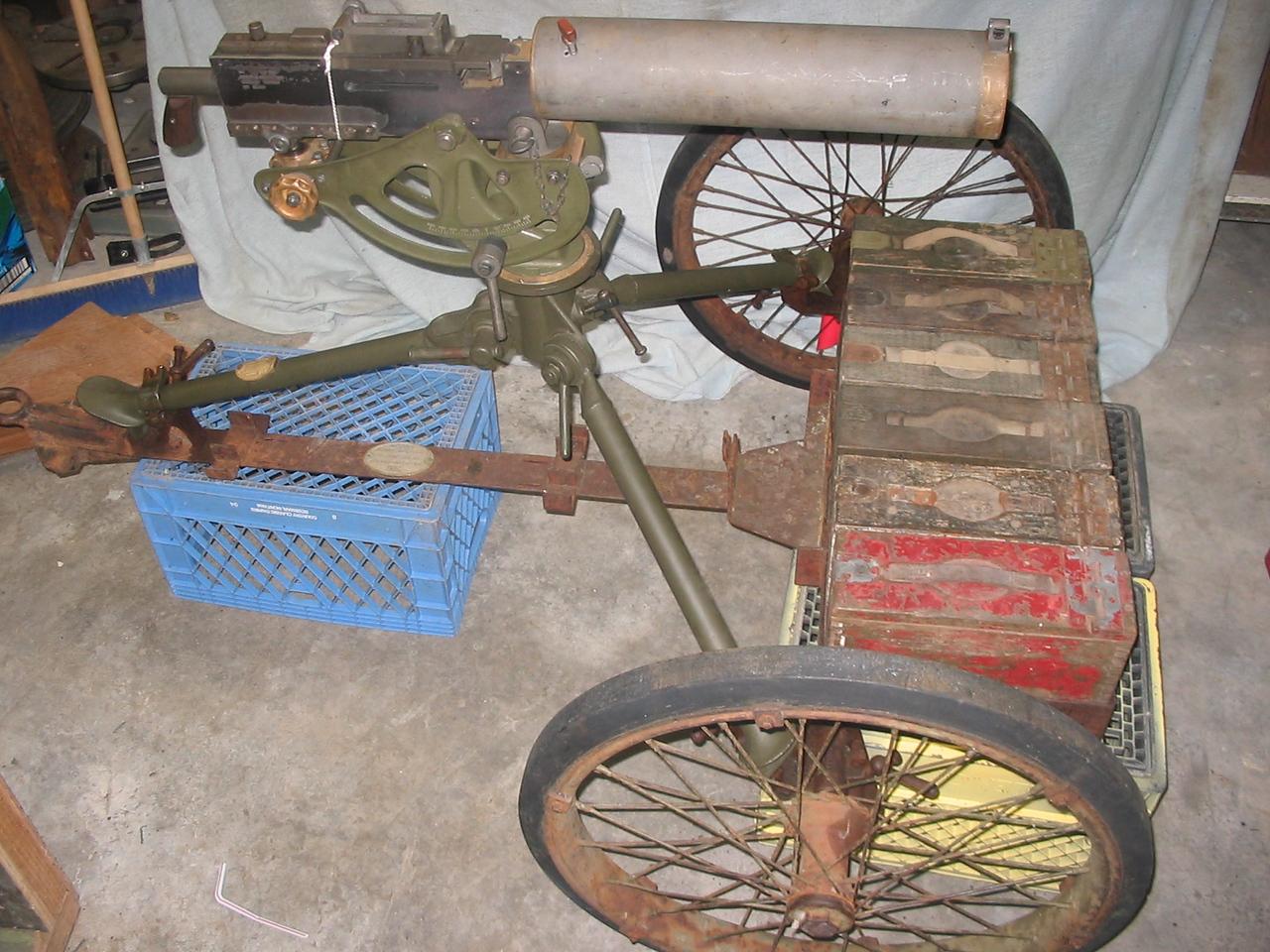 NO 1048  <br /> MOUNT, WHEELED,<br /> MACHINE GUN, M1<br /> ROCK ISLAND ARSENAL<br /> 1932
