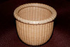 "Finally, the fifth basket made with my 4"" mold.  Izumi wanted a bobbin basket, and this is what I came up with for her."