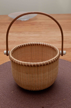 "6"" Round Bride's Maid Basket"