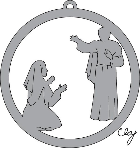 Natvity Ornament - Mary Visited By Angel