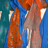 I love making these drenched with saturated color.  Background silk scarves and the wool roving is all hand-dyed -- mostly (but not entirely) by me.