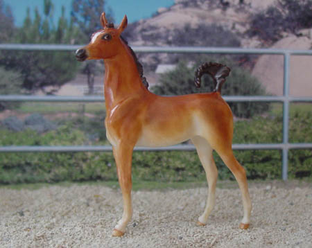 Chaney Arabian Foal, OF china, 2003 AAA Connoisseur's Club (optional foal to go with mare)