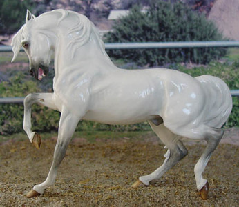 Chaney Striking Out Arabian Stallion, OF China by Animal Artistry
