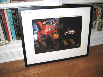 "Not audio related but too good to keep out of the garage sale. Enron Memorabilia - From the Enron Corp art collection, a framed and matted ad for Enron's Phillipines power generating facility picturing a Phillipino employeee with a 110 volt power receptacle. The ad ends with these words ""Natural gas, electricity, Enron, endless possibilities."" $30 obo"
