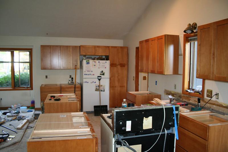 gas stove still hooked up in original spot