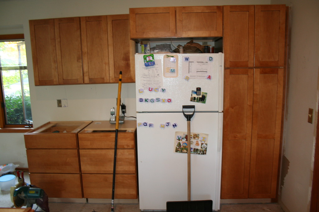 fridge in place