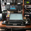 "Left and right of the M65 workstation, you see my T-mate VFO knobs, each tuning one of the two VFO's in the IC-7800...<br /> More info on these great VFO knobs: <a href=""http://www.woodboxradio.com/tmateplus.html"">http://www.woodboxradio.com/tmateplus.html</a>"