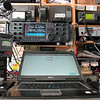 My DELL workstation, with left and right the tuning/control buttons to tune the 2 VFO's in my 7800.