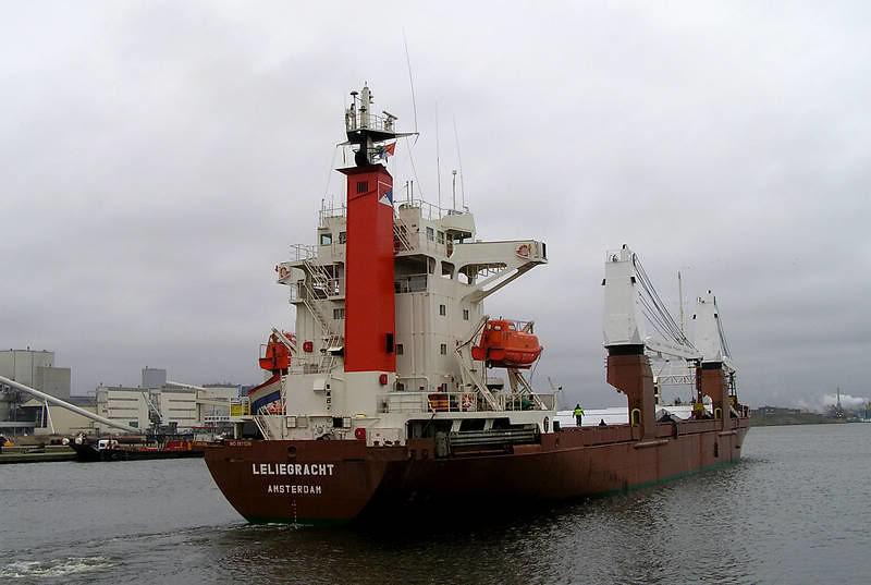 m/v Leliegracht / PFON, entering port of Rotterdam.