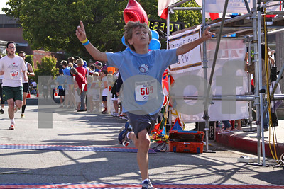 Nine-year-old Palisadian John Jackson finished first in his age division in the 5K
