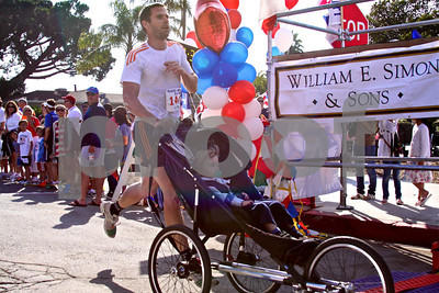 First baby to be pushed past 5K finish line