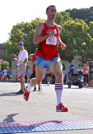 2010 winner Kevin Purcell of the Fluffy Bunnies finished second in the 10K