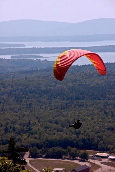 paragliding, Blue HIll, Maine, fair grounds
