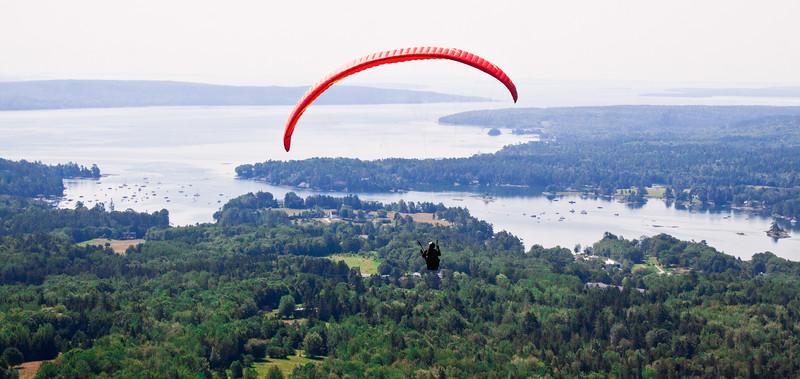 Paragliding Maine, Blue Hill,