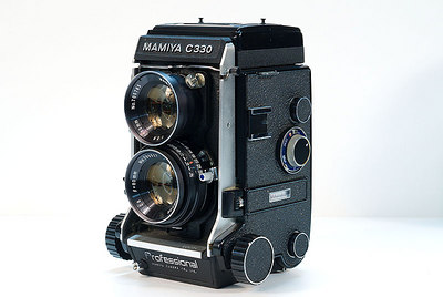 Mamiya C330 - shot a lot of weddings with this - very nice.