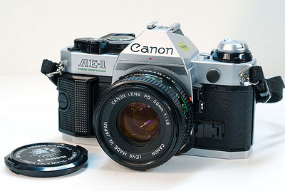 Canon AE-1 - my wife's camera when I married her (she didn't know any better poor girl).