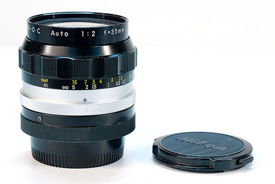 35mm f/2 Auto Nikkor (pre-AI) - one great lens - notice the wear marks!