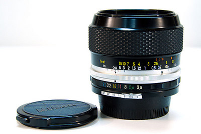 The 55mm f/3.5 micro Nikkor (pre-AI, but AI'd). Great with the D200 too.