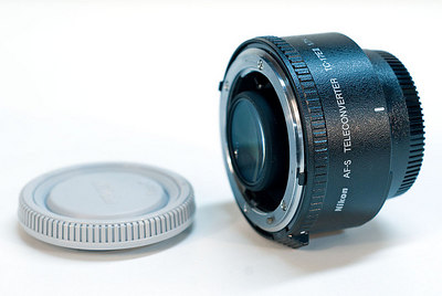 Nikon 1.7x Teleconverter. I use this on the 300mm f/4 AFS for long reach (e.g. birds).