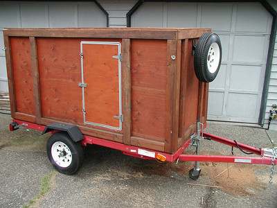 Fred's camping and dutchoven hauling trailer