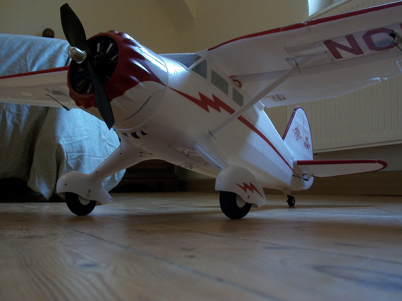 Kind of weak landing gear.  Sharp plane