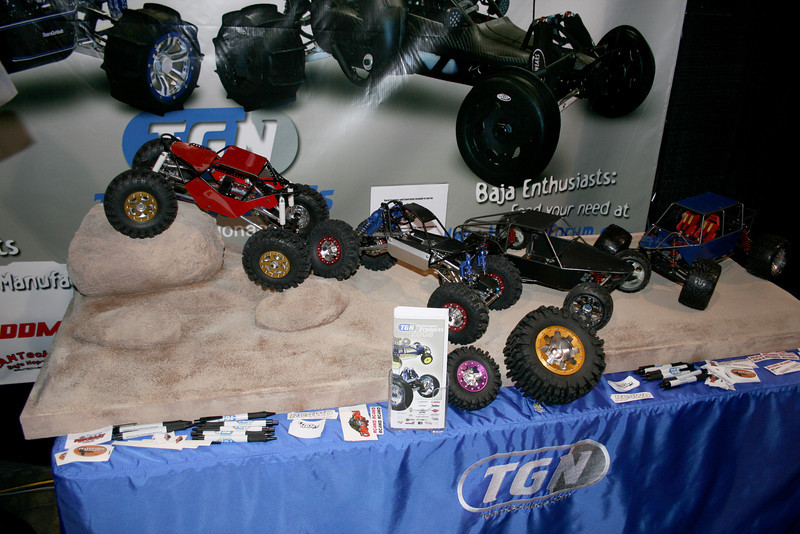 RC4WD rigs on a custom display from Craftwerks-RC.