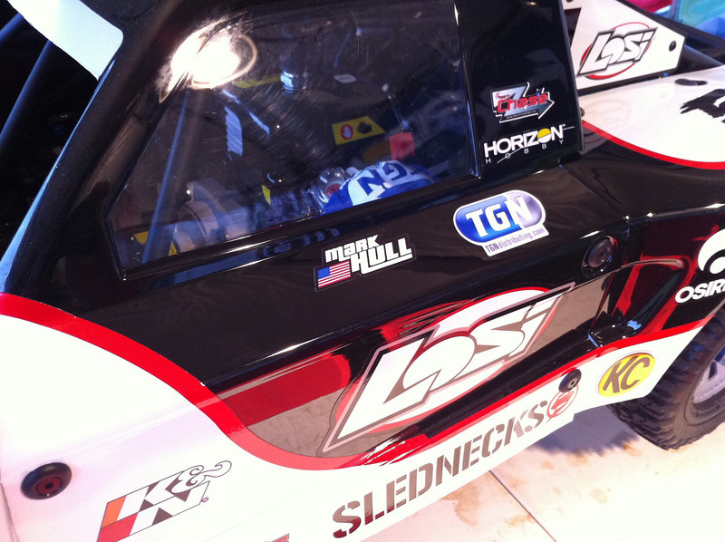 Losi was kind enough to print all the drivers of the new 5IVE-T name stickers to put on our trucks. Thanks guys!